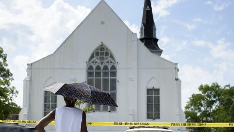 """Nine people died when a gunman opened fire on a Bible study at  <a href=""""http://www.cnn.com/2015/06/18/us/charleston-south-carolina-shooting/"""" target=""""_blank"""">Emanuel African Methodist Episcopal Church</a> in Charleston, South Carolina, on June 17.  A law enforcement official said witnesses told authorities the gunman stood up and said he was there <a href=""""http://www.cnn.com/2015/06/21/us/charleston-shooting-race-wounds-exposed/"""" target=""""_blank"""">""""to shoot black people."""" </a>Dylann Roof, 21, pleaded not guilty to 33 federal charges, including federal hate crime and firearms charges."""