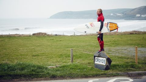 Cotton had started on the traditional route of contest surfing, but struggled at local level before being attracted to the lure of the big waves.