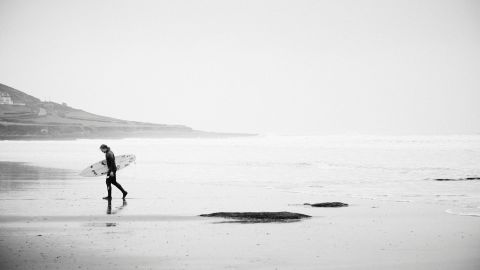 A perfect surfing beach is on his doorstep on the Devon coastline that surrounds his family home.