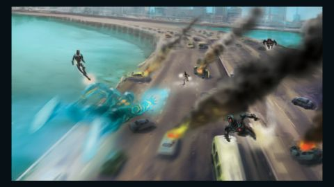 The graphic novel is set a decade into the future in Lagoon City -- a metropolis that is loosely based on Lagos.