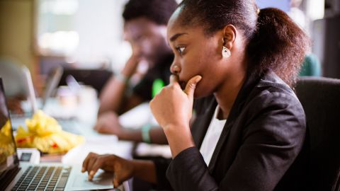 """""""Our female software developers are moving through the technical leadership training at the same rate and have equal or better client satisfaction in comparison to their male counterparts once placed with international companies,"""" says Andela co-founder Christina Sass."""