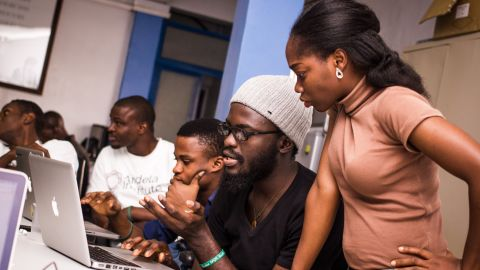 The final stage is a two-week bootcamp, where aspiring developers are taught how to build web applications and are assessed on the speed at which they learn as well as their soft skills.
