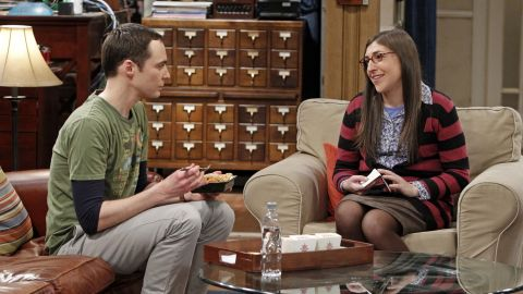 """It was love at first sight for viewers of """"The Big Bang Theory"""" when Sheldon Cooper (Jim Parsons) met the equally geeky, slightly more adventurous Amy Farrah Fowler (Mayim Bialik) via an online dating site."""