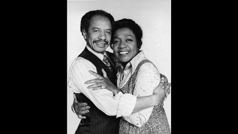 """George and Louise """"Weezy"""" Jefferson (Sherman Hemsley and Isabel Sanford) may have had their quarrels, but when it came to """"Movin' On Up,"""" they did it together."""