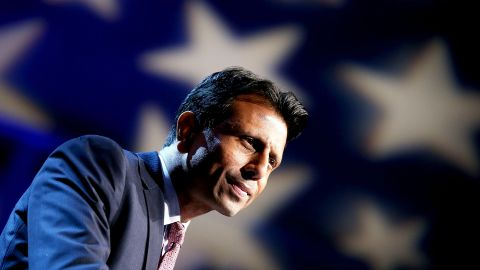 Louisiana Governor Bobby Jindal announces his candidacy for the 2016 Presidential nomination during a rally a the Pontchartrain Center on June 24, 2015 in Kenner, Louisiana.