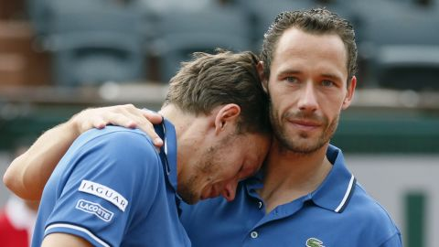 There was more heartache for Mahut in the 2013 French Open doubles final. He and partner Michael Llodra lost to Americans Bob and Mike Bryan in a third-set tiebreak. Mahut wept afterward.
