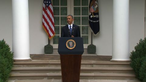 President Barack Obama reacts to the Supreme Court ruling legalizing same-sex marriage nationwide. June 26, 2015.