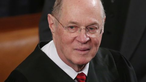 Supreme Court Associate Justice Anthony Kennedy attends US President Barack Obama's State of the Union speech before a joint session of Congress at the US Capitol February 12, 2013, in Washington, DC.