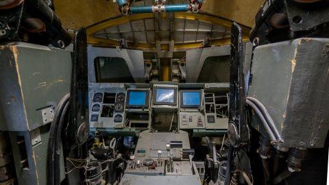 A glimpse inside the cockpit.