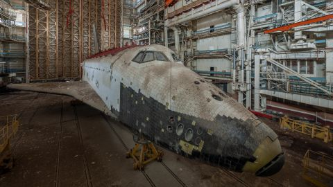 """It's hard to imagine now, but this derelict shuttle was once at the gleaming forefront of the Soviet space program. It was one of a number of dilapidated spacecraft found at the Baikonur Cosmodrome site in Kazakhstan by urban explorer <a href=""""http://ralphmirebs.livejournal.com/"""" target=""""_blank"""" target=""""_blank"""">Ralph Mirebs. </a>"""