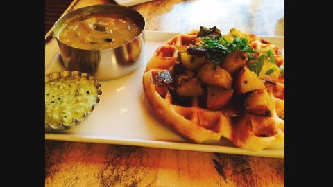 Created by Preeti Mistry of Oakland's Juhu Beach Club Restaurant, the doswaffle is South Indian dosa batter cooked in a Belgian waffle iron.