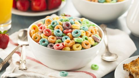 A 2014 report says children's cereals have 40% more sugars than adult cereals, and twice the sugar of oatmeal.