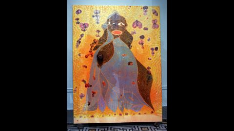 """June 2015 has been a big month for art auctioneers. Artist Chris Ofili's controversial work """"The Holy Virgin Mary,""""  which shows an African Virgin Mary covered with elephant dung, sold for $4,522,643 at Christie's -- a record for the artist, according to the auction house."""