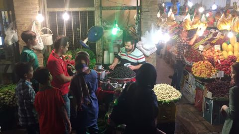 Nuts, fresh berries and other fruits are in high demand at this souk, or bazaar, after sunset when the Ramadan fast ends.