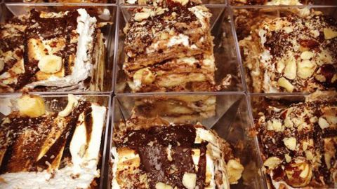 This dessert (or dinner?) served at Brooklyn's Robicelli Bakery includes layers of pasta sheets slathered with Nutella chocolate.