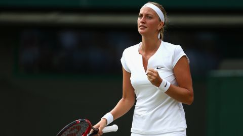 The Czech, seeking her third title at SW19, set up a clash with former world No. 1 Jelena Jankovic, the Serbian 28th seed.