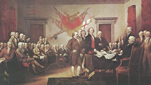 """The Enlightenment movement, which questioned traditional authority and embraced rationalism, heavily influenced The Declaration of Independence. In breaking away from Great Britain, Thomas Jefferson called on the """"certain unalienable rights"""" of """"life, liberty and the pursuit of happiness."""" These rights varied only slightly from the rights of """"life, liberty and property"""" British philosopher John Locke laid out in his 1689 """"Two Treatises of Government."""""""
