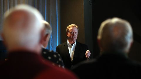 Most polls show Webb in the low single digits. In a CNN/ORC poll conducted in late June, Webb garnered 2% support nationally. In this photo, he speaks during a fundraiser for Iowa politicians in Mason City.