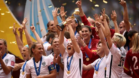 The U.S. Women's National Soccer Team celebrates after winning the Women's World Cup on Sunday, July 5, in Vancouver, Canada. The United States defeated Japan with a final score of 5-2. Click through to see highlights from the tournament: