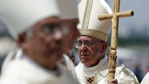 Pope Francis celebrates a Mass at Samanes Park in Guayaquil, Ecuador, on July 6.