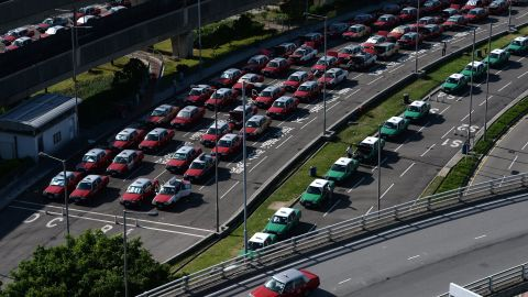 There are more than 18,000 taxis in Hong Kong, according to the Transport Department.
