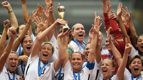 """The U.S. soccer team celebrates after <a href=""""http://www.cnn.com/2015/06/12/football/gallery/usa-highlights-womens-world-cup/index.html"""" target=""""_blank"""">winning the Women's World Cup</a> on Sunday, July 5. Carli Lloyd scored a hat trick as the Americans defeated Japan 5-2 in Vancouver, British Columbia. The United States has now won three Women's World Cups -- more than any other nation."""