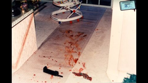 """A photo of the crime scene shows the cordless telephone Darlie Routier used to call 911 on the night of the attacks. The 911 recording and the duration of the call (five minutes and 42 seconds) were key pieces of evidence during the trial. <br /><br />Appellate lawyer Stephen Cooper would later argue that given the length of time Routier was on the phone with 911, the prosecution's timeline of events was flawed: One piece of evidence was a sock with both boys' blood on it that was found in an alley 75 yards away from the house.<br /><br />""""There is not but a couple of minutes for her to stab and kill the children, cut the screen, get this sock and run it down the alley in the dark through a gate that doesn't really work very well, (and) come back,"""" Cooper said."""