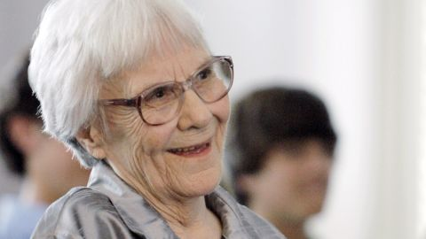 """In this Aug. 20, 2007, file photo, """"To Kill A Mockingbird"""" author Harper Lee smiles during a ceremony honoring the four new members of the Alabama Academy of Honor, at the state Capitol in Montgomery, Ala.  Each spring, volunteers join together annually to perform a stage version of Lee's """"To Kill a Mockingbird"""" on the courthouse lawn in Monroeville, Ala.  Yet the play may eventually be coming to an end. Organizers haven't been able to obtain rights to produce the play beyond 2015."""
