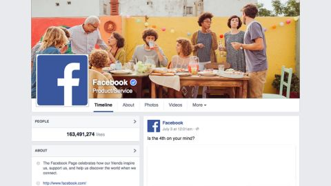 Following a trend made popular by Twitter, Facebook allowed select Pages for people, sports, media and government to become verified in 2013. The badges show a page's authentic affiliation.