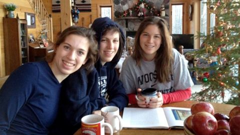 From left: Kelsie Andrews-Sharer, Megan Andrews-Sharer and Erin Andrews-Sharer.