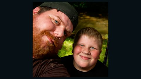 Josh Fairbanks and his son, Logan, are shown in this family photo.