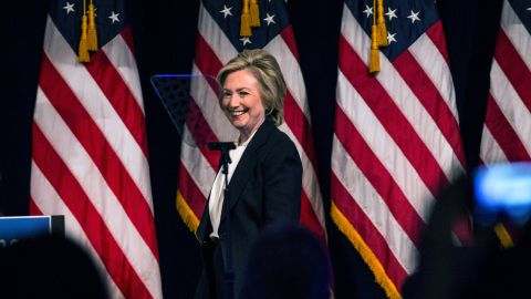Democratic presidential candidate Hillary Clinton speaks at The New School on July 13, 2015, in New York City.