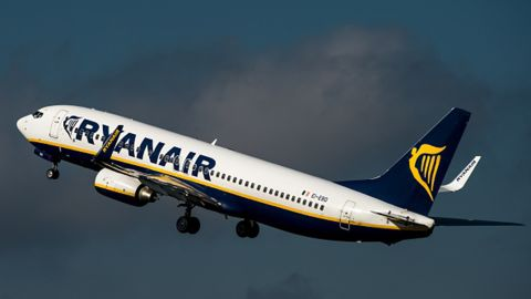 The man had reportedly missed a Ryanair flight to Amsterdam.