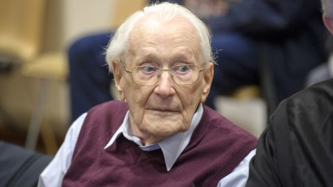 """Former Nazi officer<a href=""""http://www.cnn.com/2015/07/15/europe/germany-nazi-death-camp-verdict/index.html"""" target=""""_blank""""> Oskar Groening</a>, known as """"the bookkeeper of Auschwitz,"""" was sentenced this week to four years in prison. Groening, who's in his 90s, was found guilty by a court in Lueneburg, Germany, of being an accessory to the murder of 300,000 people at the Auschwitz death camp in Nazi-occupied Poland during World War II. His was the latest in a long string of prosecutions for crimes committed under Adolf Hitler's regime during World War II."""