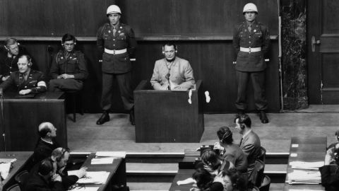 """Hermann Goering was the highest-ranking Nazi tried at Nuremberg. He issued the order for Hitler's security police to carry out a """"Final Solution"""" to the """"Jewish question"""" -- resulting in the Holocaust. He was sentenced to death but committed suicide before he could be executed."""