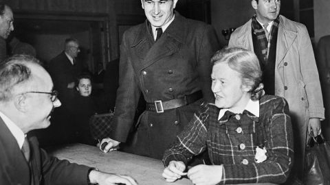 """Ilse Koch was the wife of Buchenwald camp commander Karl Koch. Known as """"The Witch of Buchenwald"""" by the inmates because of her cruelty and lasciviousness toward prisoners, she was sentenced in 1951 to life in prison."""
