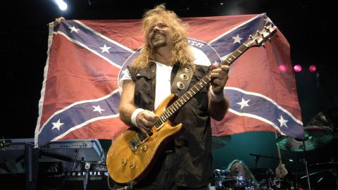 """The Southern rock band Molly Hatchet has defended its use of the flag. """"We still stand by our heritage, which is the South,"""" guitarist Bobby Ingram <a href=""""http://www.hotmetalonline.com/2013/01/04/molly-hatchet-confederate-flag-not-racist/"""" target=""""_blank"""" target=""""_blank"""">told Hot Metal in 2013</a>. """"I don't look at it as being racist at all. I look at it as heritage, not hate."""""""