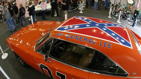 """The General Lee, the 1969 Dodge Charger from the TV show """"The Dukes of Hazzard,"""" featured a flag on its roof. Warner Bros. said it would no longer license models of the car with the flag. One of the show's stars, <a href=""""http://www.hollywoodreporter.com/news/john-schneider-confederate-flag-dukes-804933"""" target=""""_blank"""" target=""""_blank"""">John Schneider, told The Hollywood Reporter</a> that he was unhappy with the decision. Though acknowledging others may see it as a symbol of racism, he said, """"If the flag was a symbol of racism, then Bo and Luke and Daisy and Uncle Jesse were a pack of wild racists and that could not be further from the truth."""""""