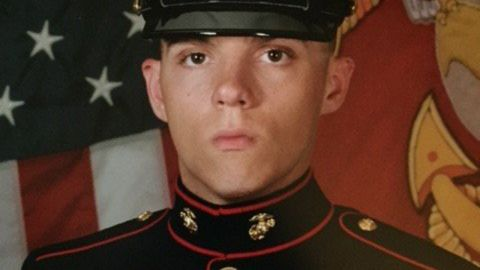 Skip Wells joined the Marines last year.