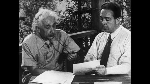 In 1939, physicists Albert Einstein, left, and Leo Szilard drafted a letter to U.S. President Franklin D. Roosevelt, urging him to research atomic bombs before the Germans could build one first. By 1942, the United States had approved the top-secret Manhattan Project to build a nuclear reactor and assemble an atomic bomb.