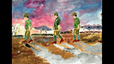 """Torazuchi Matsunaga remembered soldiers carrying children's corpses on stretchers to a temporary crematorium. """"These children had been injured by the bomb and taken to the army hospital for treatment but had soon died,"""" she said. """"The hands and legs sticking out of the stretcher swung with the motion. My chest suddenly seized with emotion."""""""