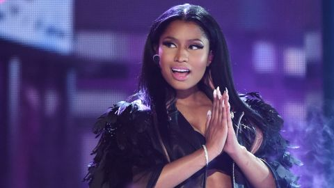 "Best hip-hop video: Nicki Minaj (pictured), ""Anaconda""; Fetty Wap, ""Trap Queen""; Kendrick Lamar, ""Alright""; Wiz Khalifa feat. Charlie Puth, ""See You Again""; Big Sean feat. E-40, ""IDFWU.""<br />"