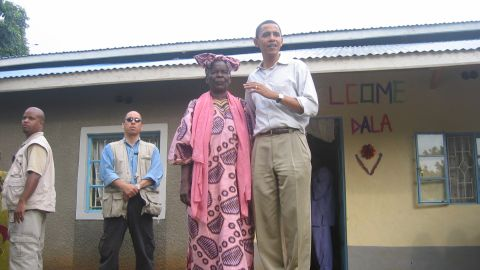 Sarah Obama, the matriarch of the family, welcomed Obama to her home in Kogelo. She was the stepmother of his father, Barack Obama Sr.