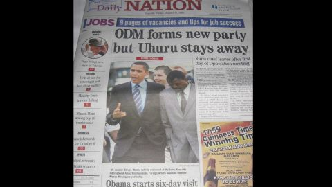 The Nation, the premiere newspaper in Nairobi, treated the freshman senator's visit as major news.