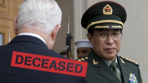 """Xu Caihou was the most senior military figure caught up in the corruption dragnet. However, the former People's Liberation Army general didn't face prosecution because of ill health and died of bladder cancer in March 2015. His rank was revoked after an investigation found he took bribes to facilitate promotions. Local media reports said the <a href=""""http://money.cnn.com/2015/04/21/news/economy/china-corruption-xi-jinping/"""">general had so much cash</a> stashed away at his home that it took a week to count, and 12 trucks to haul it away."""