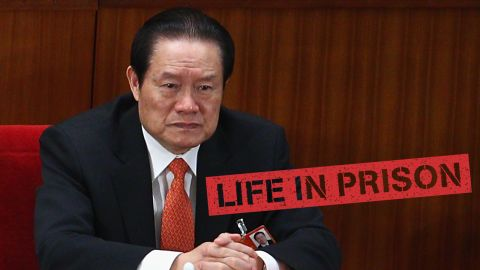 """A former member of China's all-powerful Politburo Standing Committee, <a href=""""http://edition.cnn.com/2015/06/11/asia/china-zhou-yongkang-sentence/"""">Zhou</a> <a href=""""http://cnn.com/2015/06/11/asia/china-zhou-yongkang-sentence/"""">Yongkang is now serving a life sentence </a>for corruption and other crimes. He was tried in secret in May 2015 and sentenced to life in prison in June. He's the highest ranking official to fall victim to Xi's graft crackdown."""