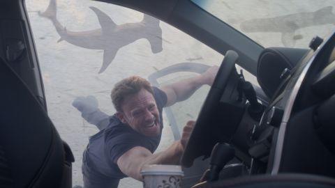"""Ian Ziering portrays Fin Shepard in a scene from """"Sharknado 3: Oh Hell No!""""."""