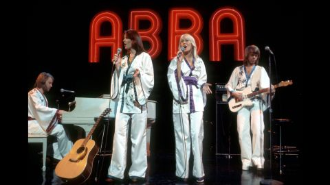"""If you hear an ABBA song in the morning, chances are it'll be stuck in your head all day. This Swedish quartet was the embodiment of mainstream '70s pop with hit singles like """"Honey, Honey,"""" """"Dancing Queen,"""" and """"Waterloo."""" The group's hyper-catchy sound catapulted it to lasting popularity, with more than 300 million records sold worldwide."""