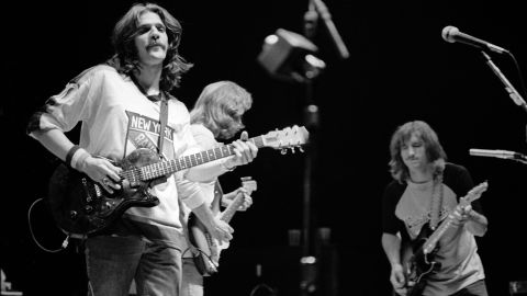 """This quintessential '70s band gave us classics like """"Hotel California,"""" """"Take It Easy"""" and """"Desperado."""" The band's success has placed it on such lists as Rolling Stone's 500 Best Albums of All Time and the 100 Greatest Artists of All Time."""