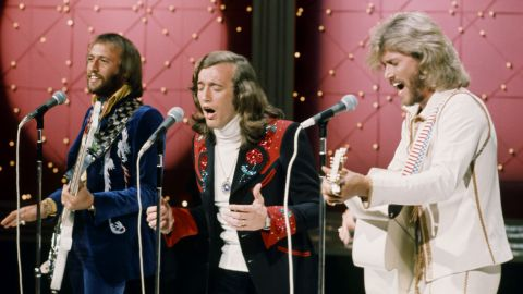 """These three brothers first saw success in the '60s with a sound many compared to the Beatles. With the hit """"Jive Talkin'"""" in 1975 and significant contributions to the """"Saturday Night Fever"""" soundtrack in 1977, the Bee Gees helped popularize disco, pulling the genre out of clubs like Studio 54 and into the mainstream."""